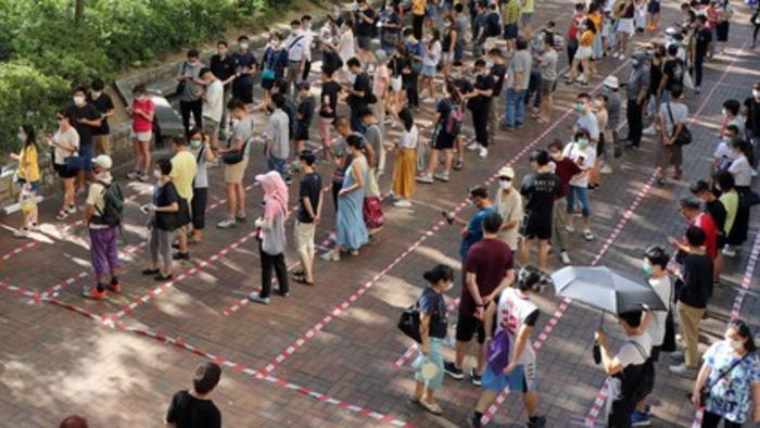 Unexpectedly high voter turnout at Hong Kong primary elections