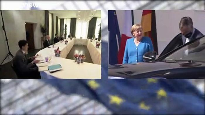 EU leaders meet ahead of crunch summit to paper over the cracks of COVID recovery plan