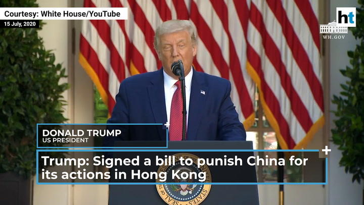 Watch: Donald Trump on Hong Kong, China's Covid 'cover-up' and Huawei