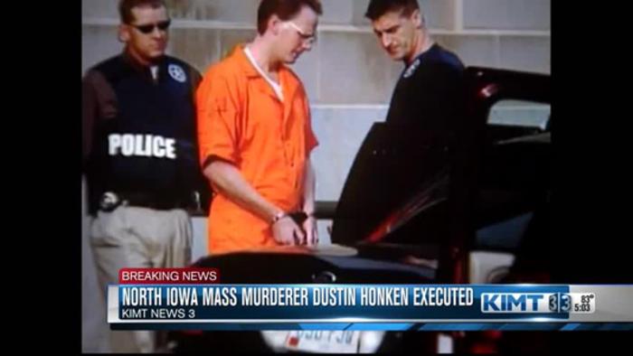 North Iowa mass murderer Dustin Honken executed