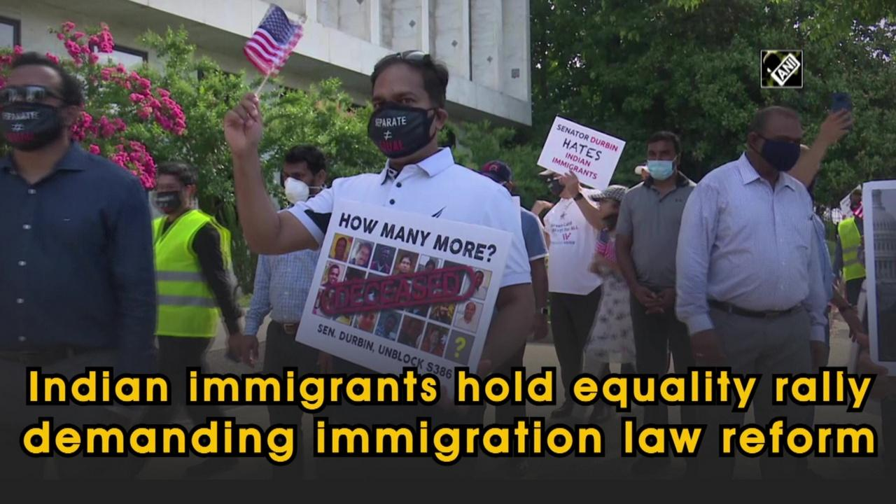 Indian immigrants hold equality rally demanding immigration law reform