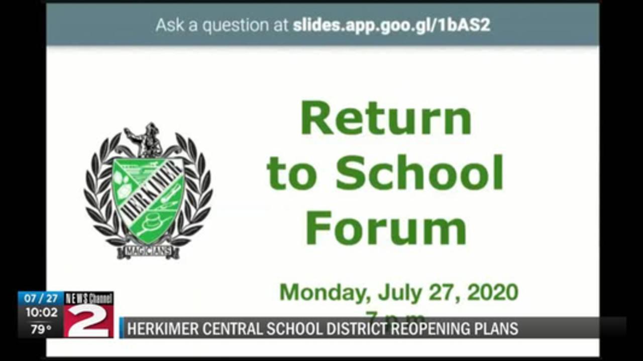 Herkimer's plan to return to school