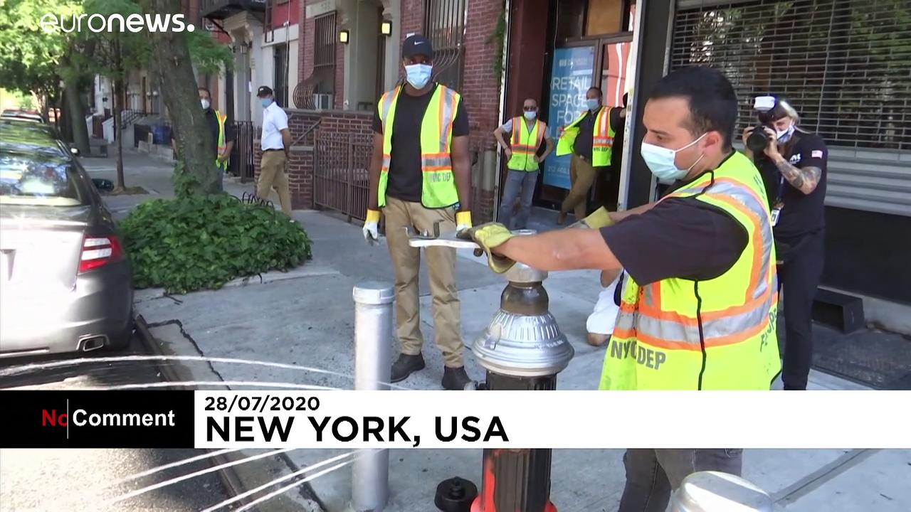 Fire hydrants helping New Yorkers keep cool amid high temperatures