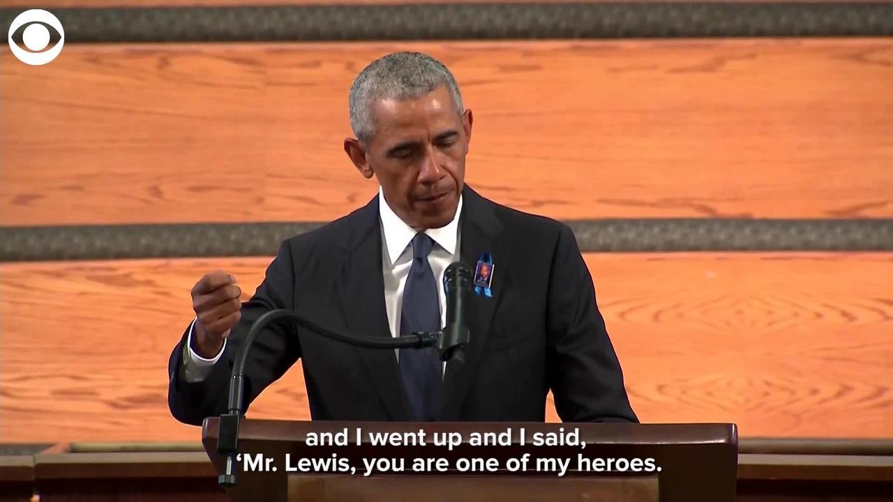 WEB EXTRA: Former President Barack Obama Speaks at Rep. John Lewis Funeral