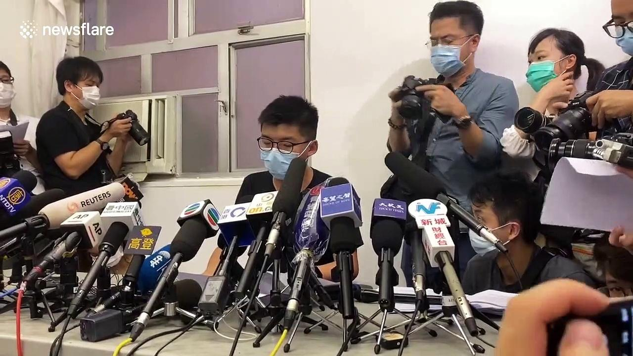Joshua Wong vows to fight on after Hong Kong election disqualifications