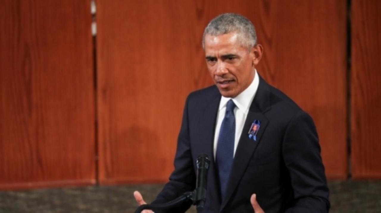Obama eulogy makes thinly veiled digs at Trump