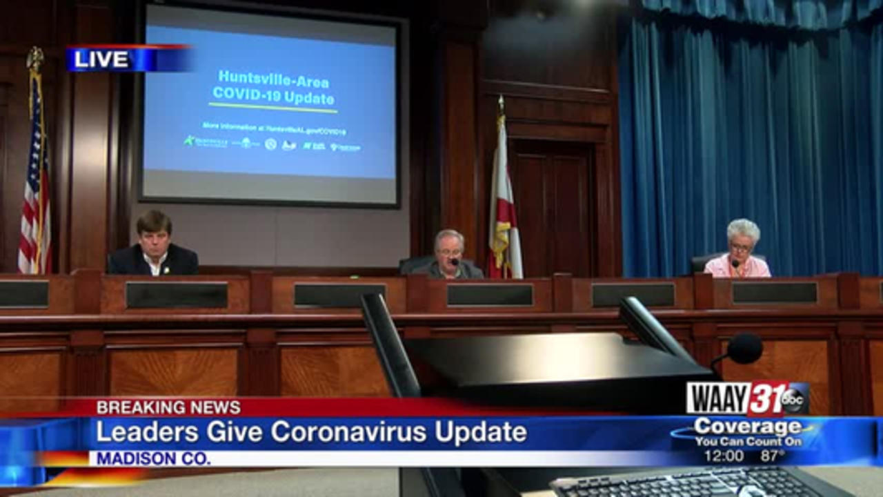 WATCH: Madison County officials hold coronavirus news conference for July 31