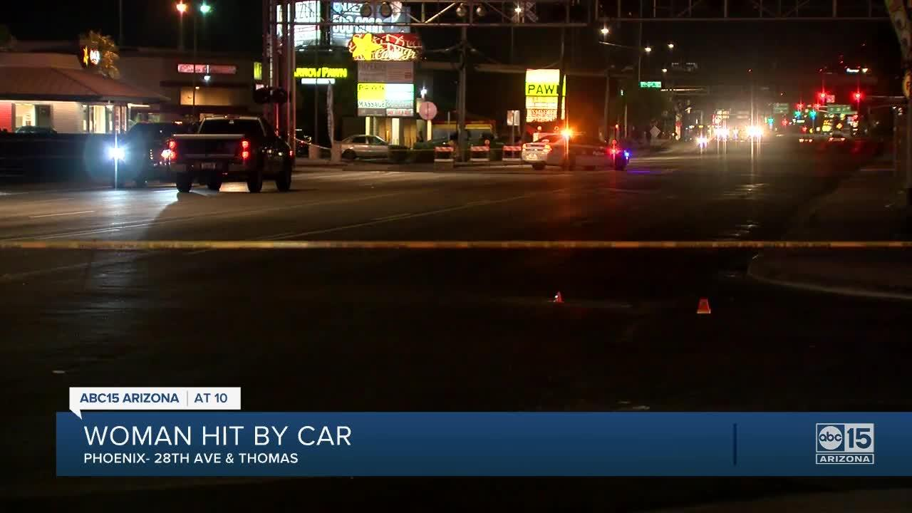 PD: Woman struck by vehicle in hit-and-run near 28th Avenue and Thomas Road