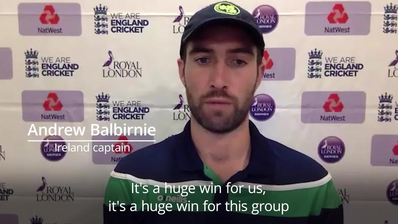 England v Ireland: Andrew Balbirnie post-match press conference