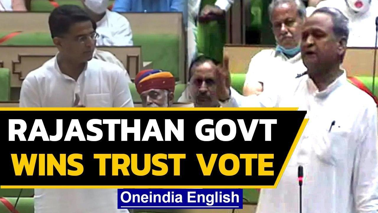 Ashok Gehlot-led Cong Govt wins vote of confidence in Rajasthan assembly | Oneindia News