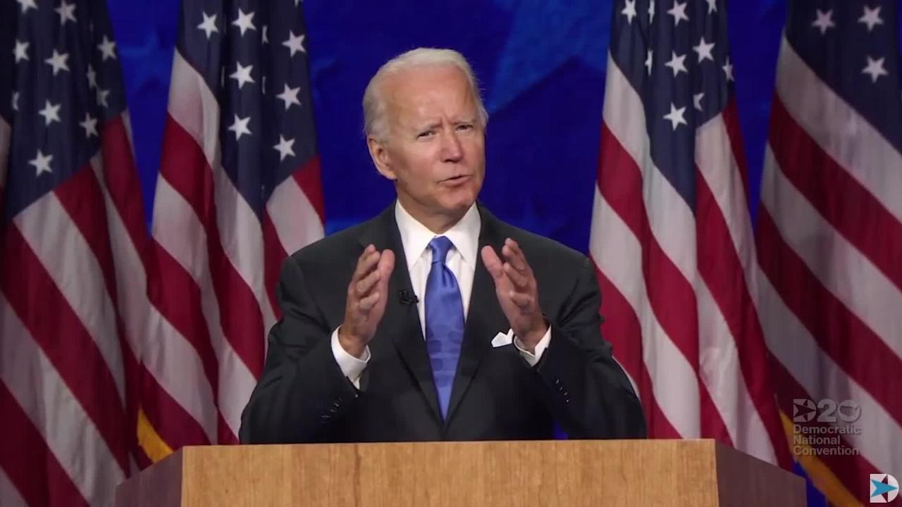 Joe Biden promises 'end to national darkness' in acceptance speech