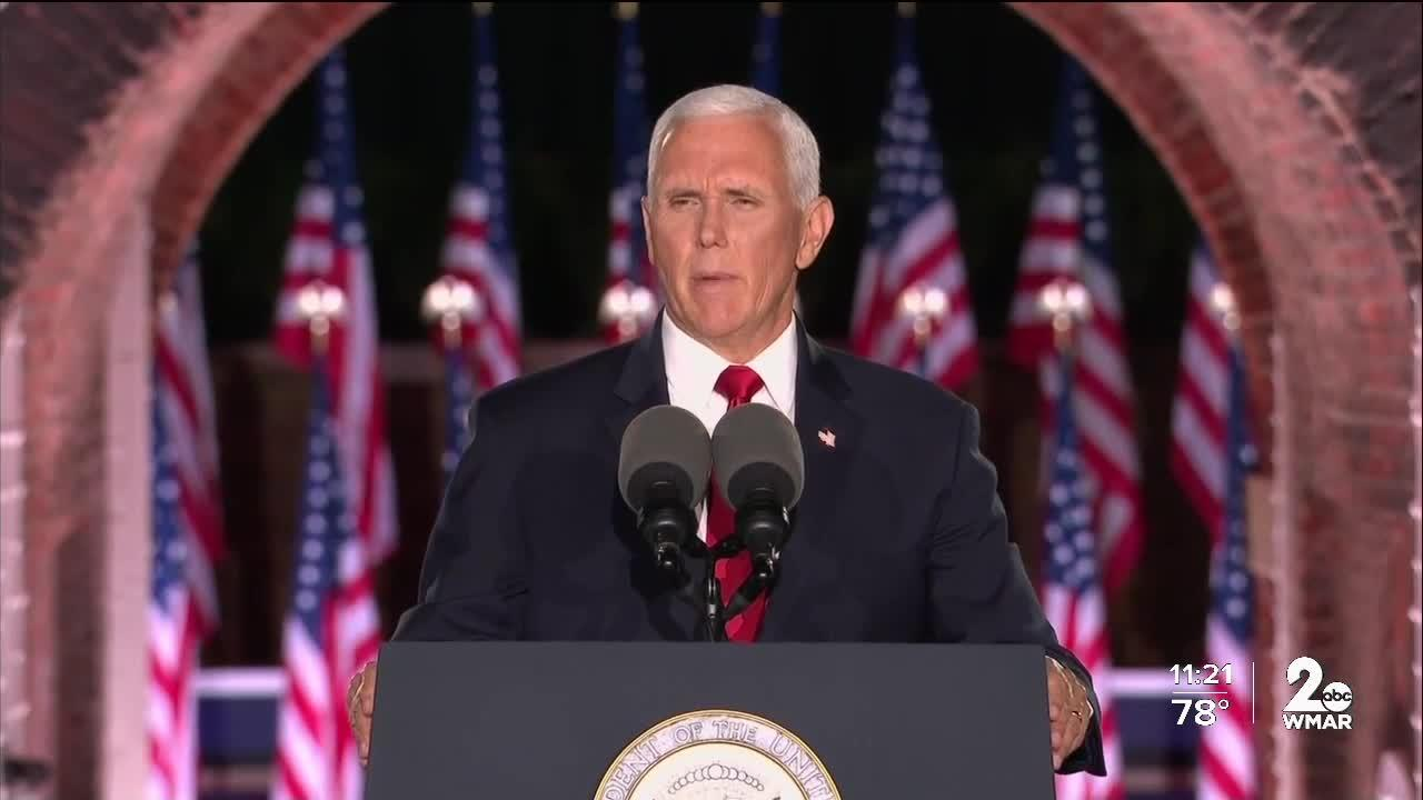 Vice President Pence broadcasts RNC Speech from Fort McHenry