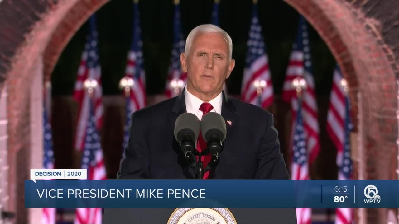 Pence promises coronavirus vaccine by end of the year as he accepts nomination