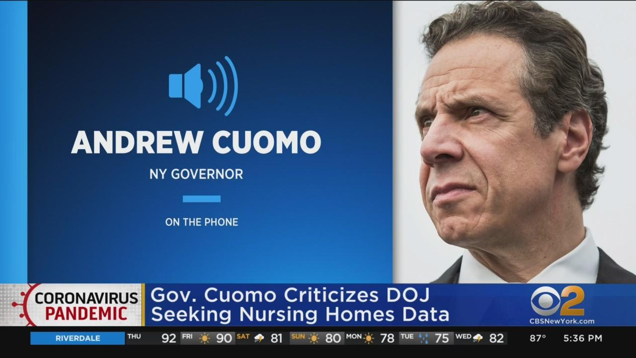 Gov. Cuomo Criticizes Justice Department For Requesting COVID-19 Data From Nursing Homes In Four States