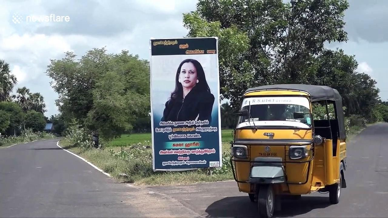 Posters springs up in Kamala Harris ancestral village in India