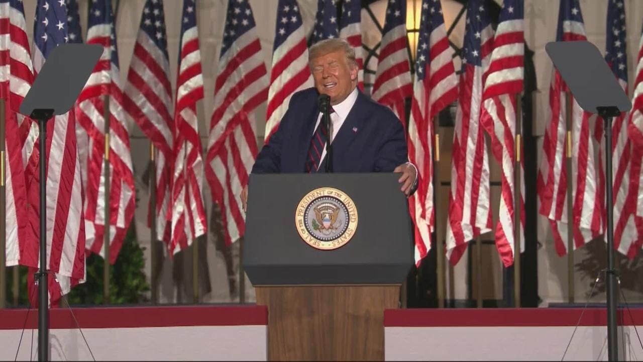 President Trump Speaks During Last Night Of RNC