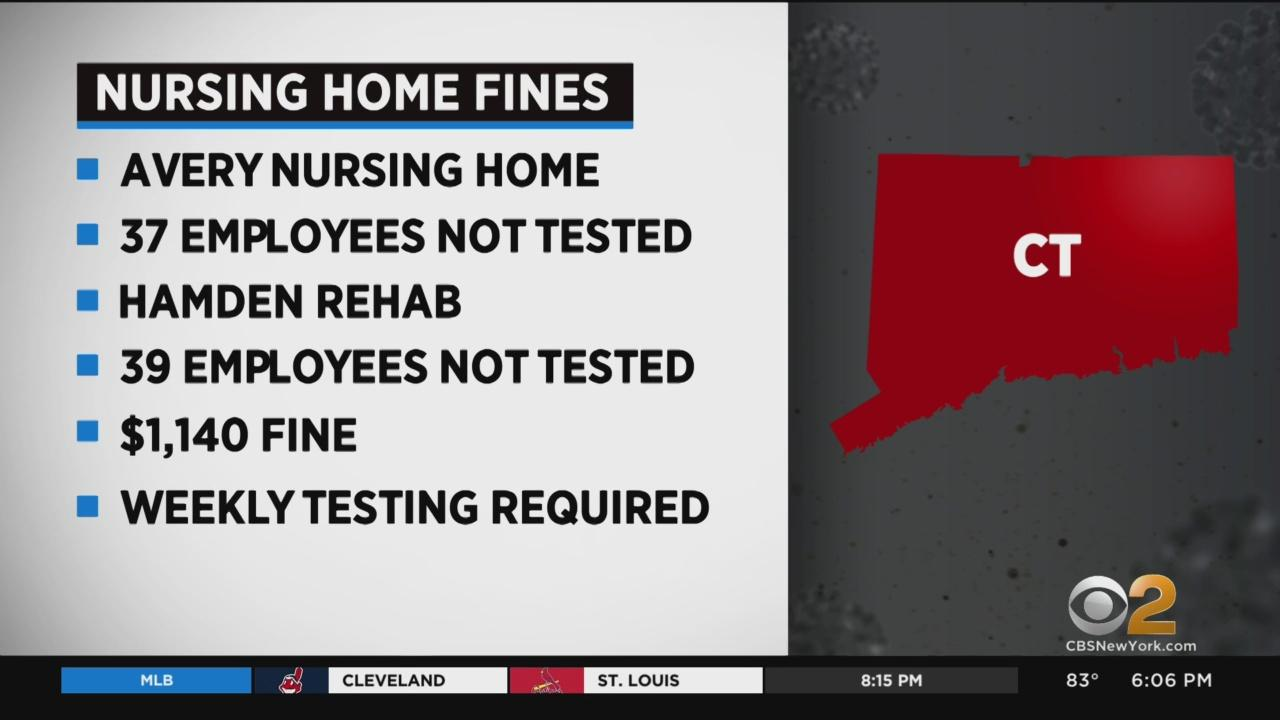 2 Connecticut Nursing Homes Fined For Failing To Test Employees For Coronavirus