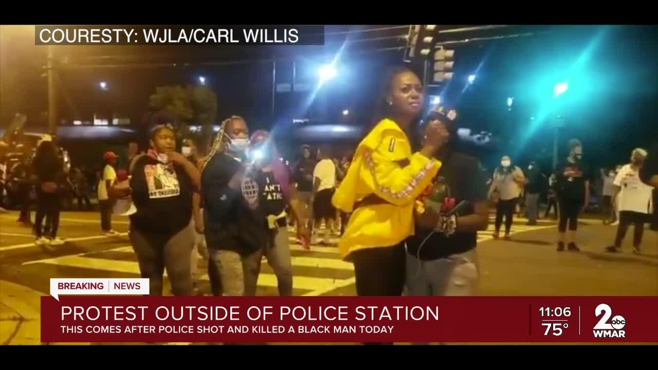 Protest in DC outside of police station after officer shot and killed a black man