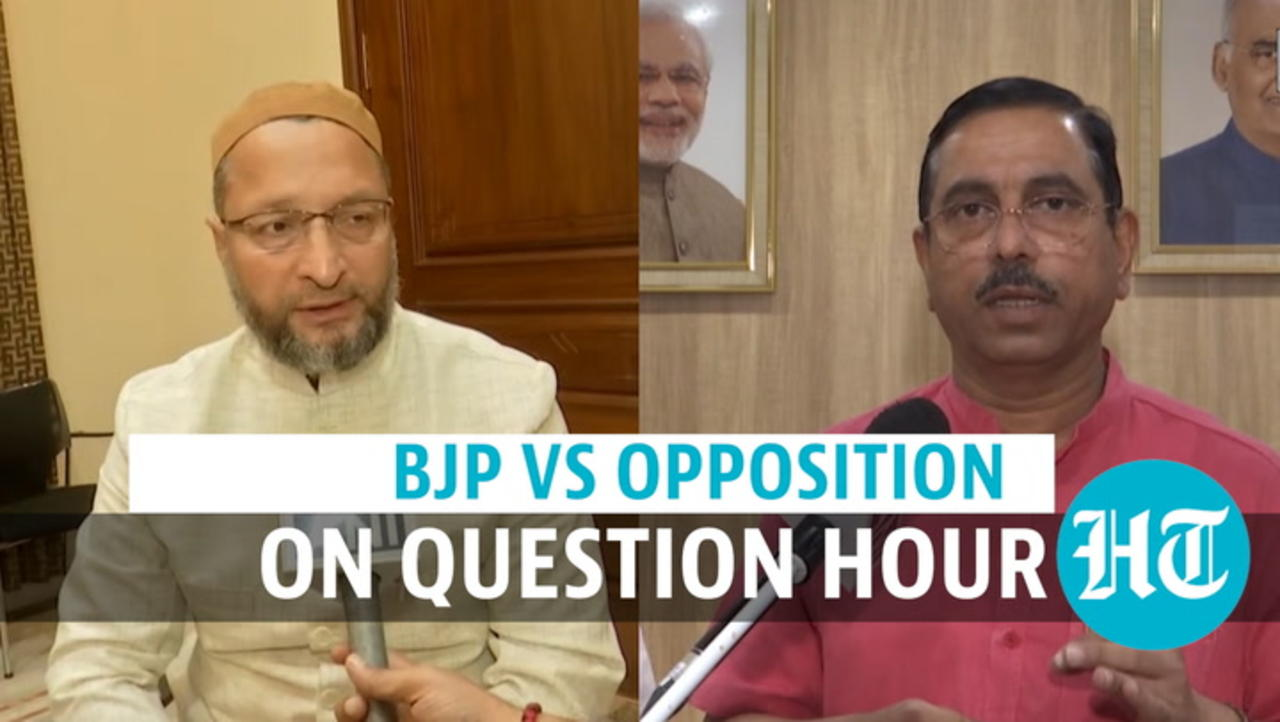 Watch: Owaisi vs Union minister on Question Hour cancellation in Parliament