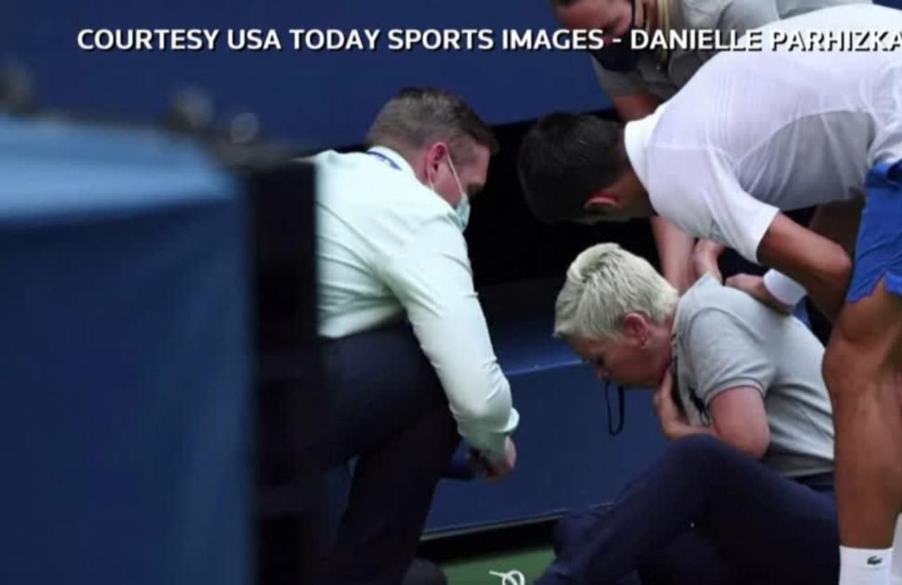 Djokovic Disqualified After Striking Line Judge One News Page Video