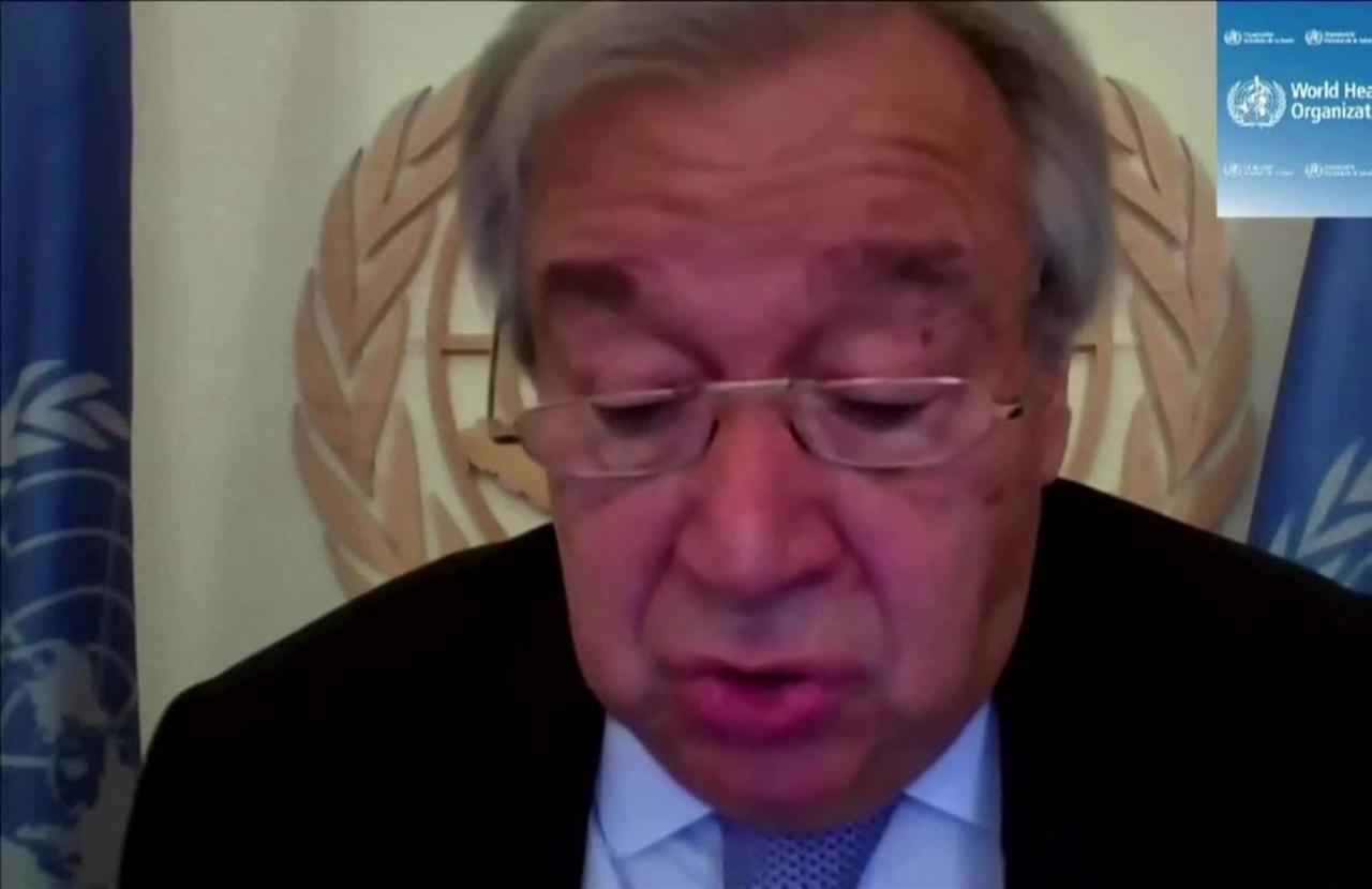 UN's Guterres calls for $35 bln more to fight virus