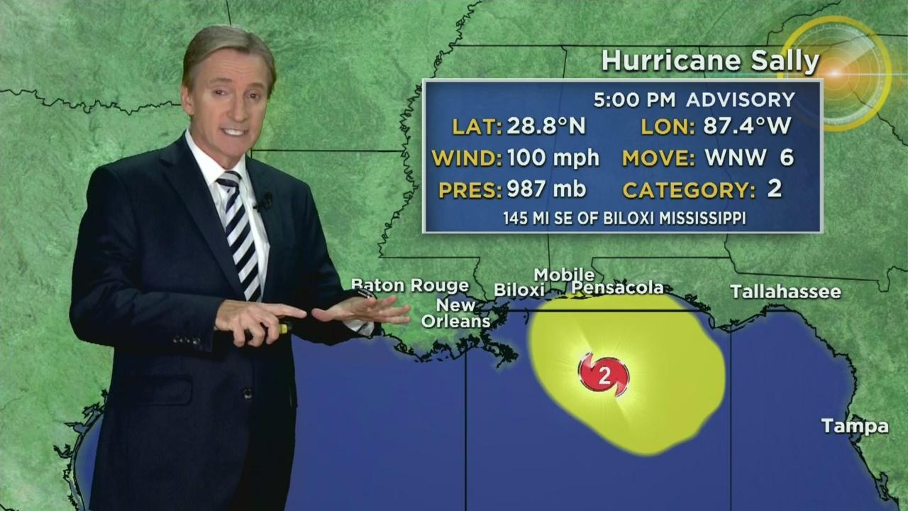 Tracking Hurricane Sally 9-14-20 5PM - One News Page VIDEOHurricane Sally Track