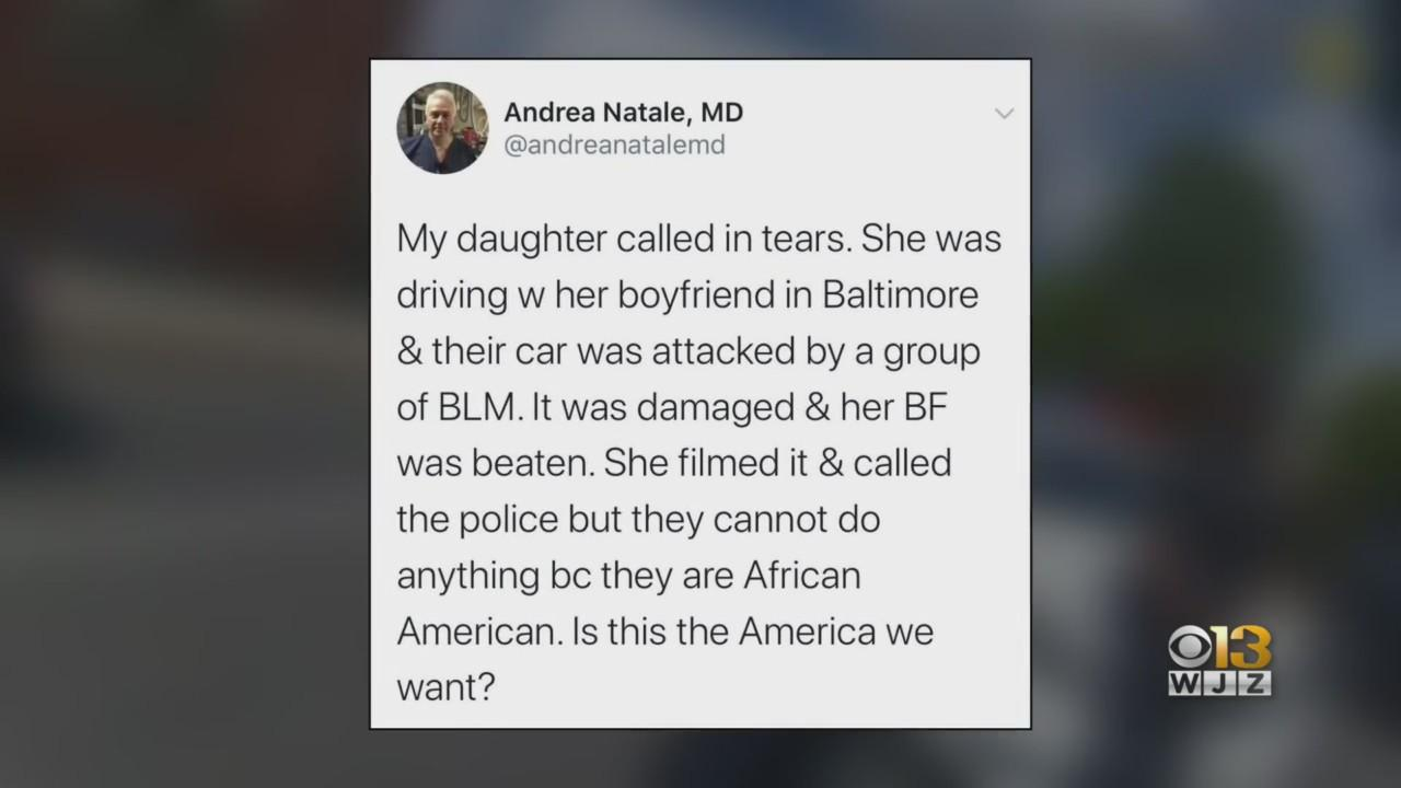 Doctor Apologizes After Viral Tweet Falsely Accused Protesters Of Attacking Daughter In Baltimore
