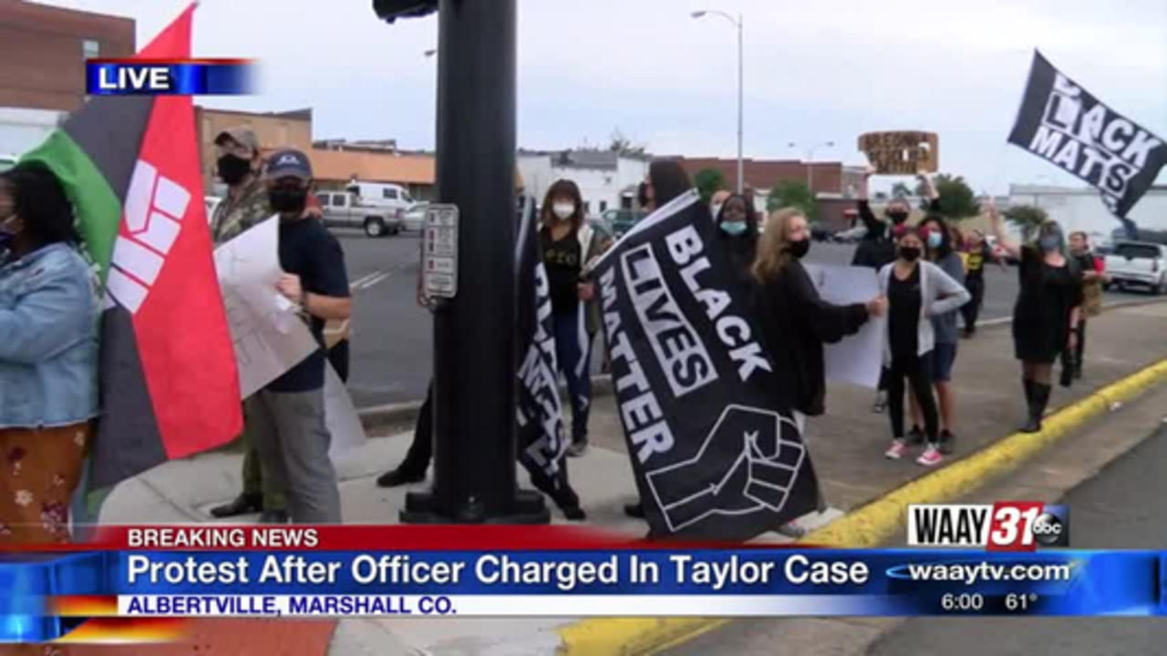 Protest After Officer Charged In Taylor Case
