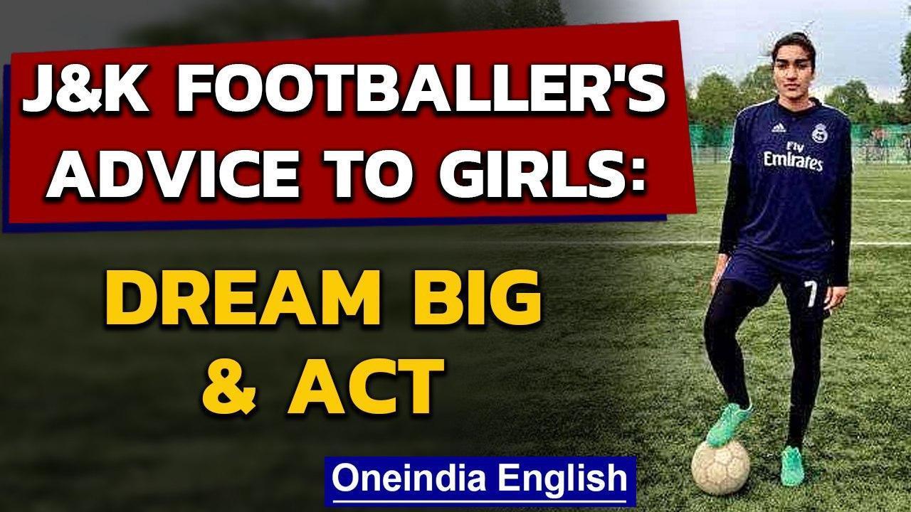 Kashmir woman footballer Afshan Ashiq on Fit India Dialogue | Oneindia News
