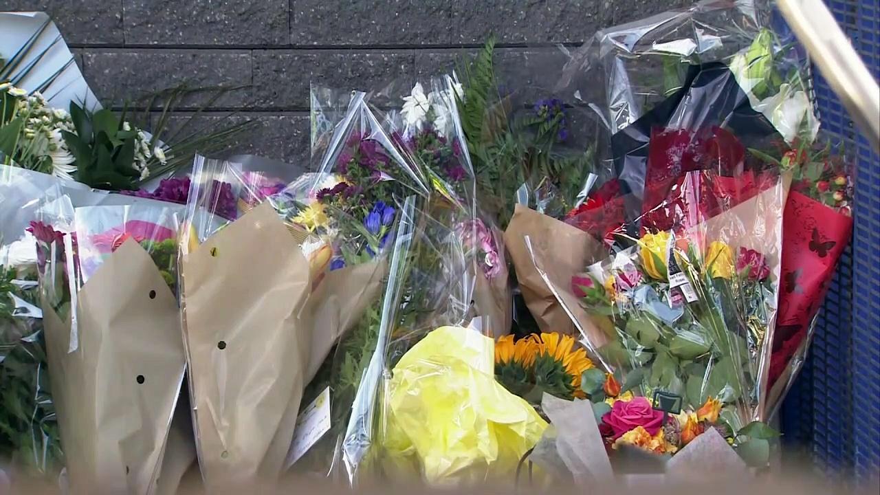 Flowers placed in memory of Sergeant Matt Ratana