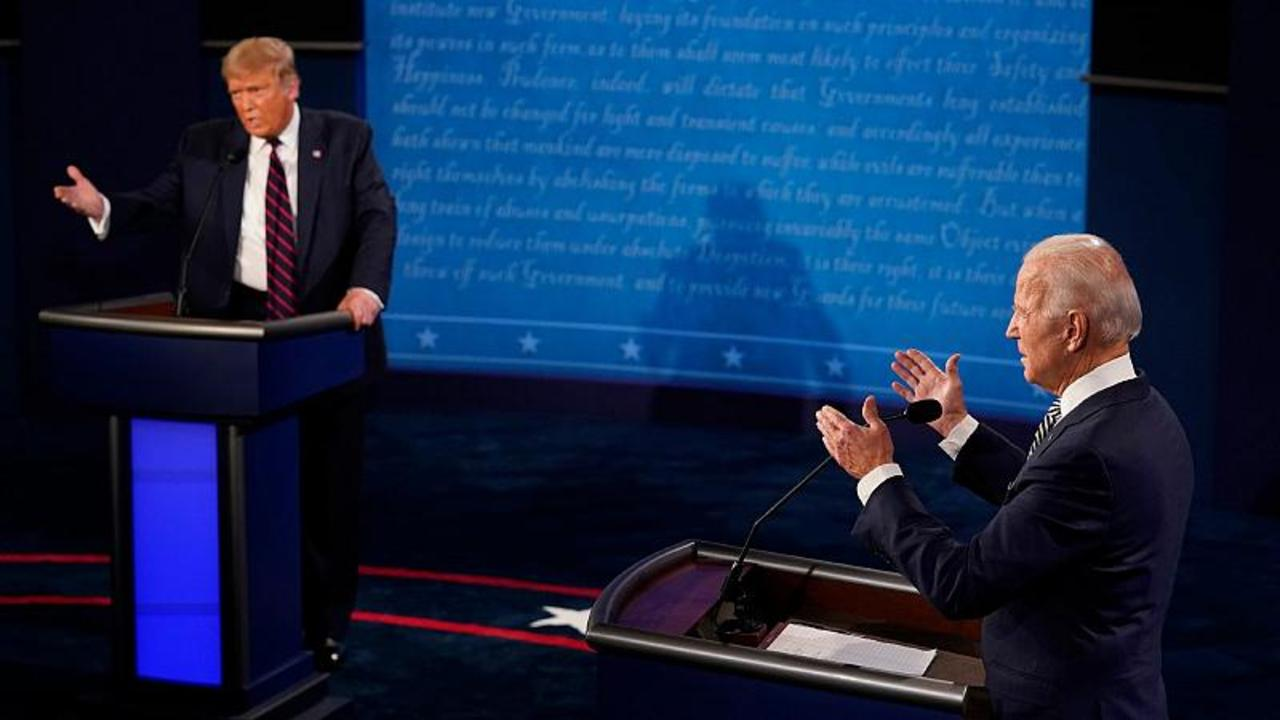 First US presidential debate: Trump and Biden lock - One ...