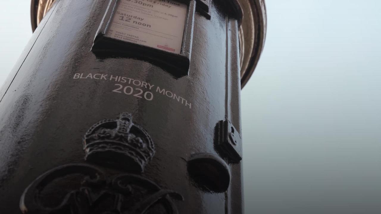 Specially decorated Black History Month postboxes to honour black Britons