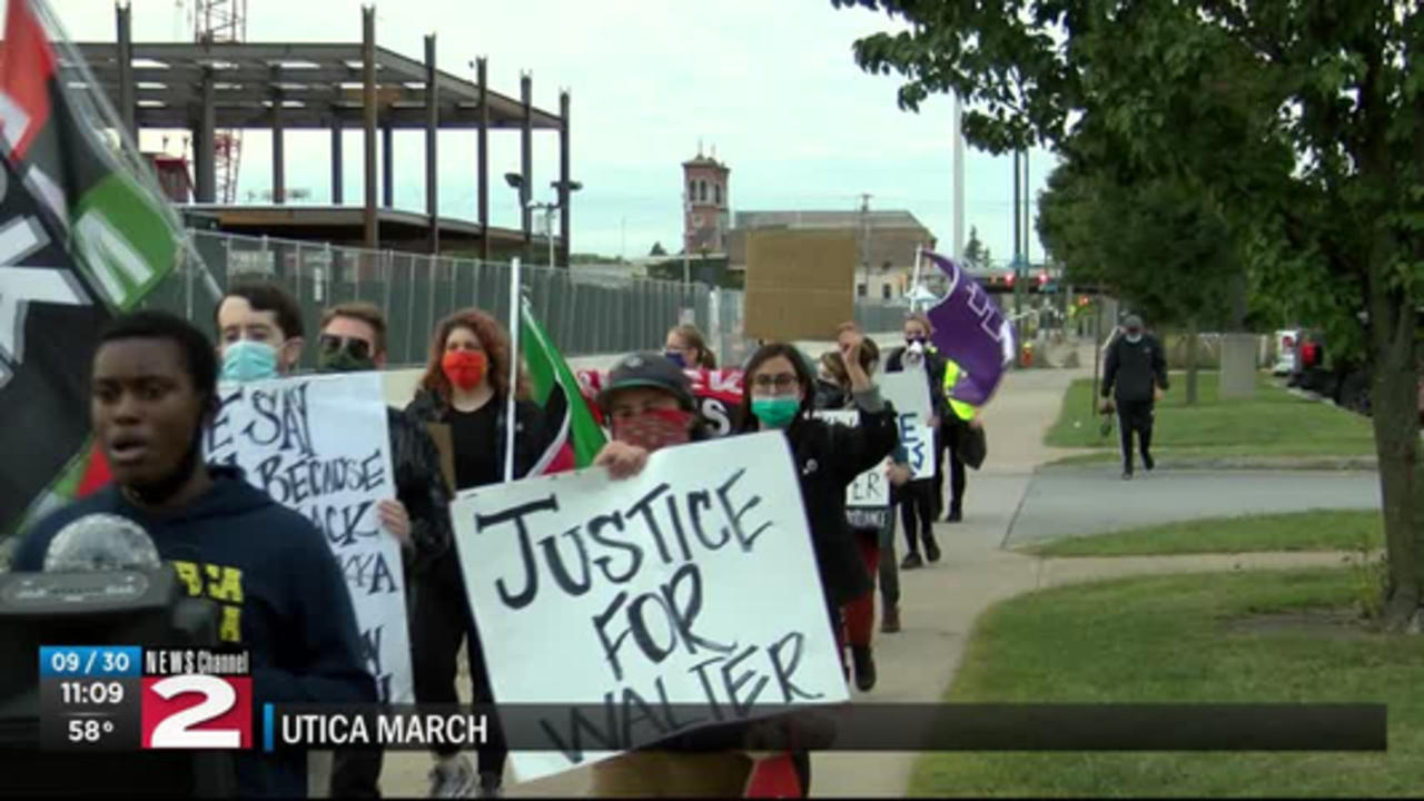 Utica Abolitionists protest the 2005 police shooting of Walter Washington