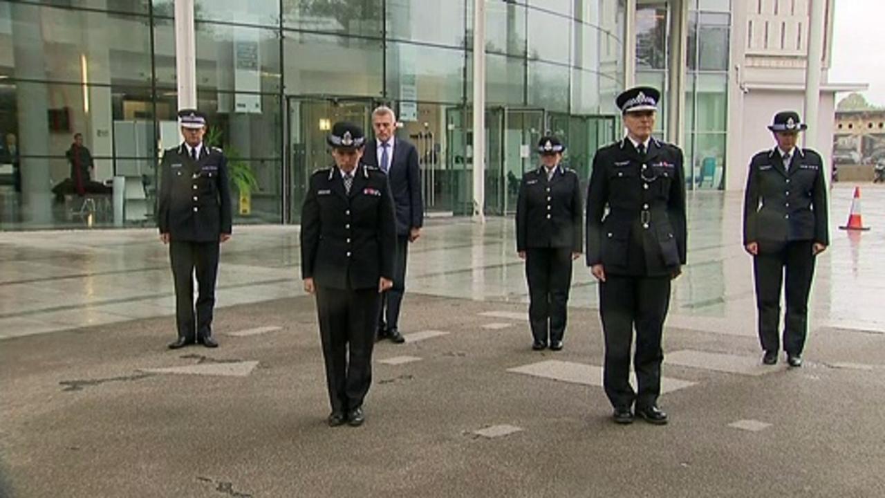 Met hold minute's silence for fallen officer Matt Ratana