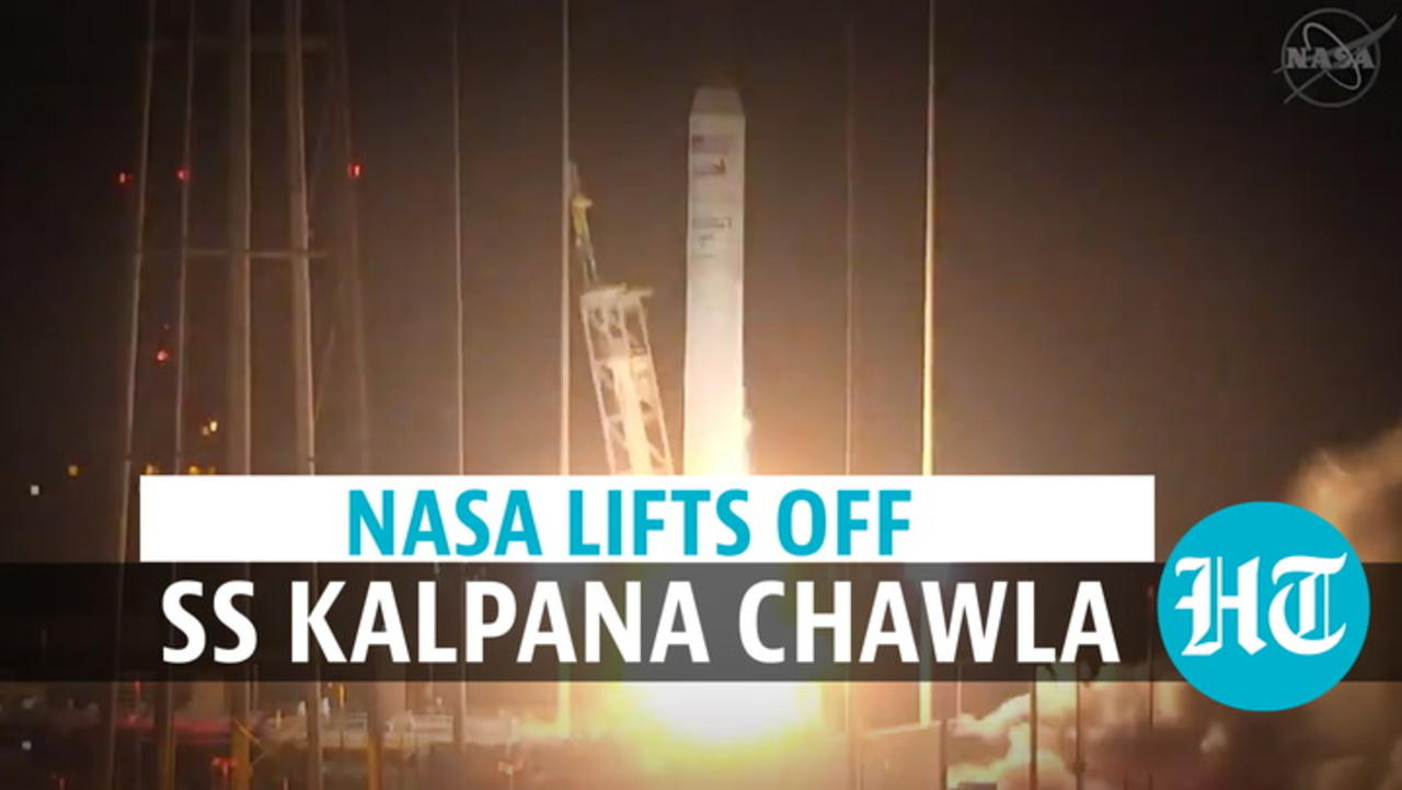 Watch: Spacecraft named after Kalpana Chawla lifts off; husband reacts