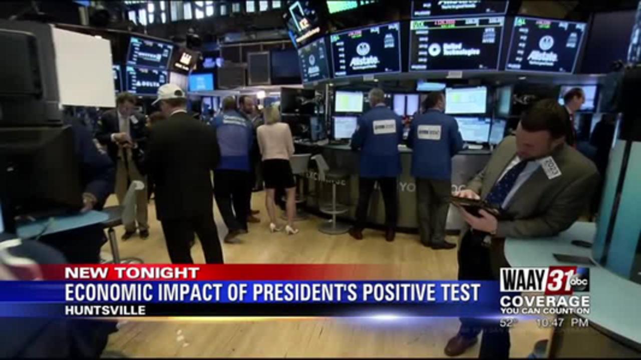 Economic impact of president's positive test