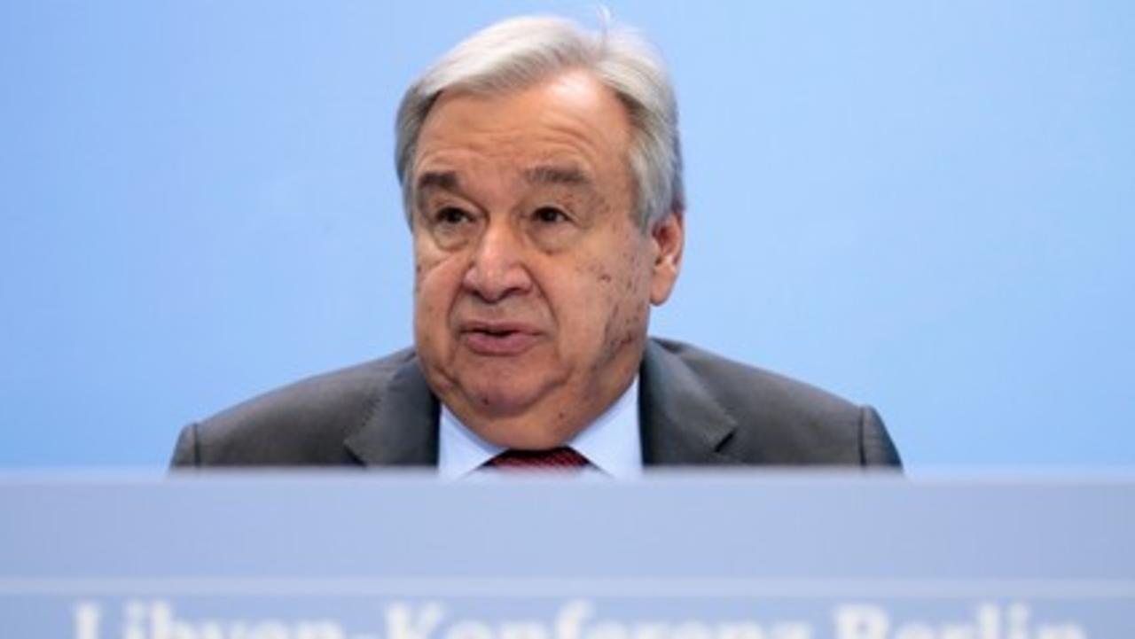 UN: Antonio Guterres says Libya's peace at stake, urges ceasefire