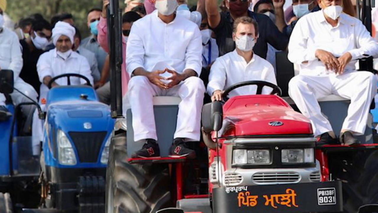 Rahul's tractor rally: Briefly stopped at Haryana border, protest continues