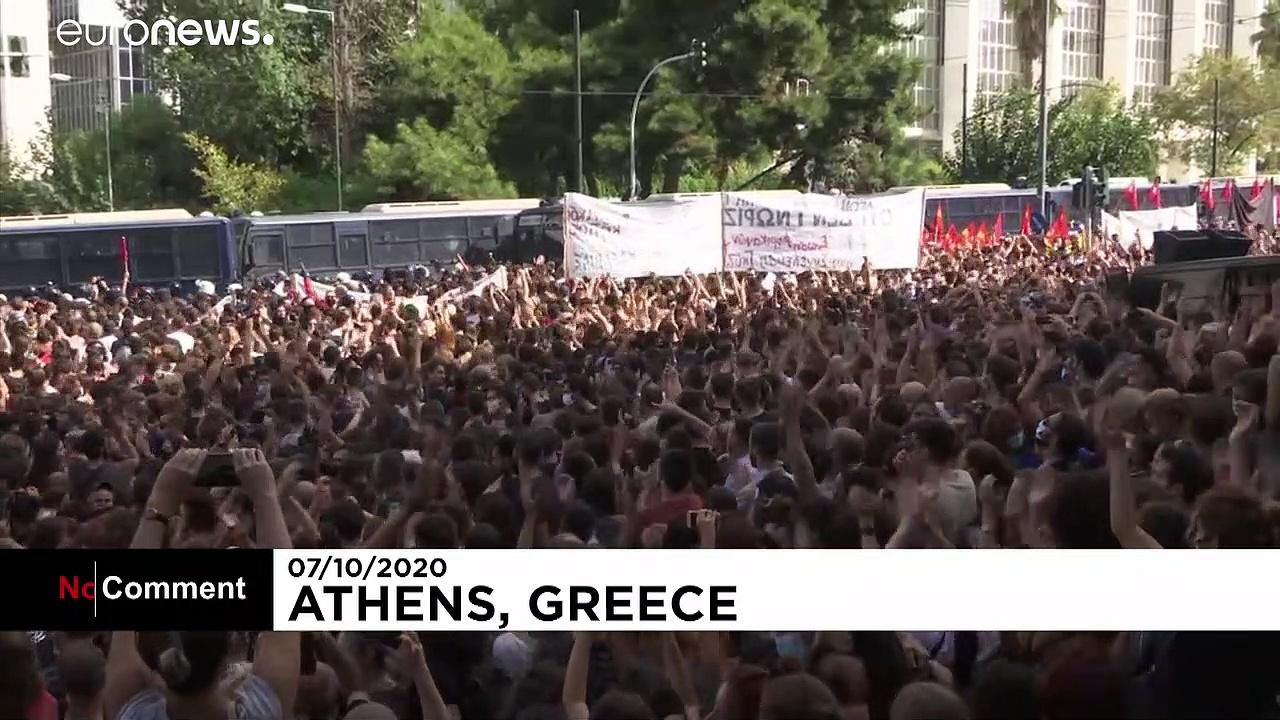 Watch: Violent clashes after landmark Golden Dawn verdict in Athens