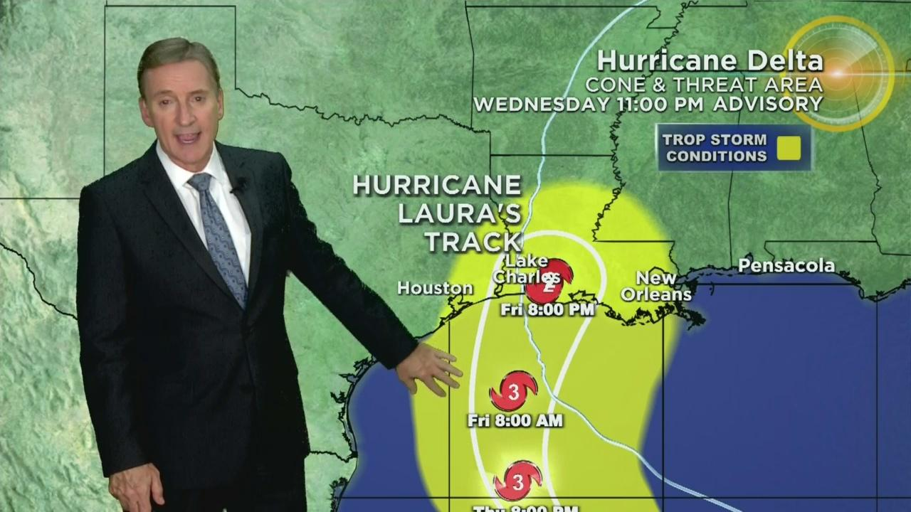Tracking Hurricane Delta 10-7-20 11PM