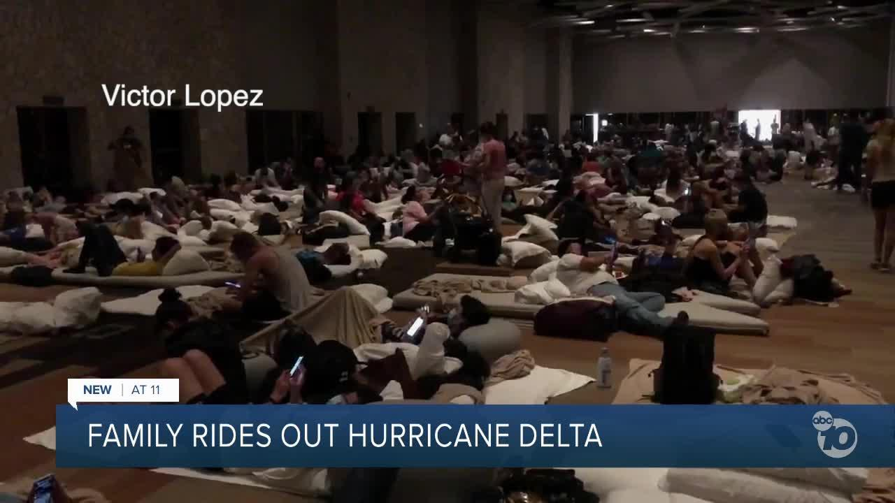 San Diego family rides out Hurricane Delta in Mexico