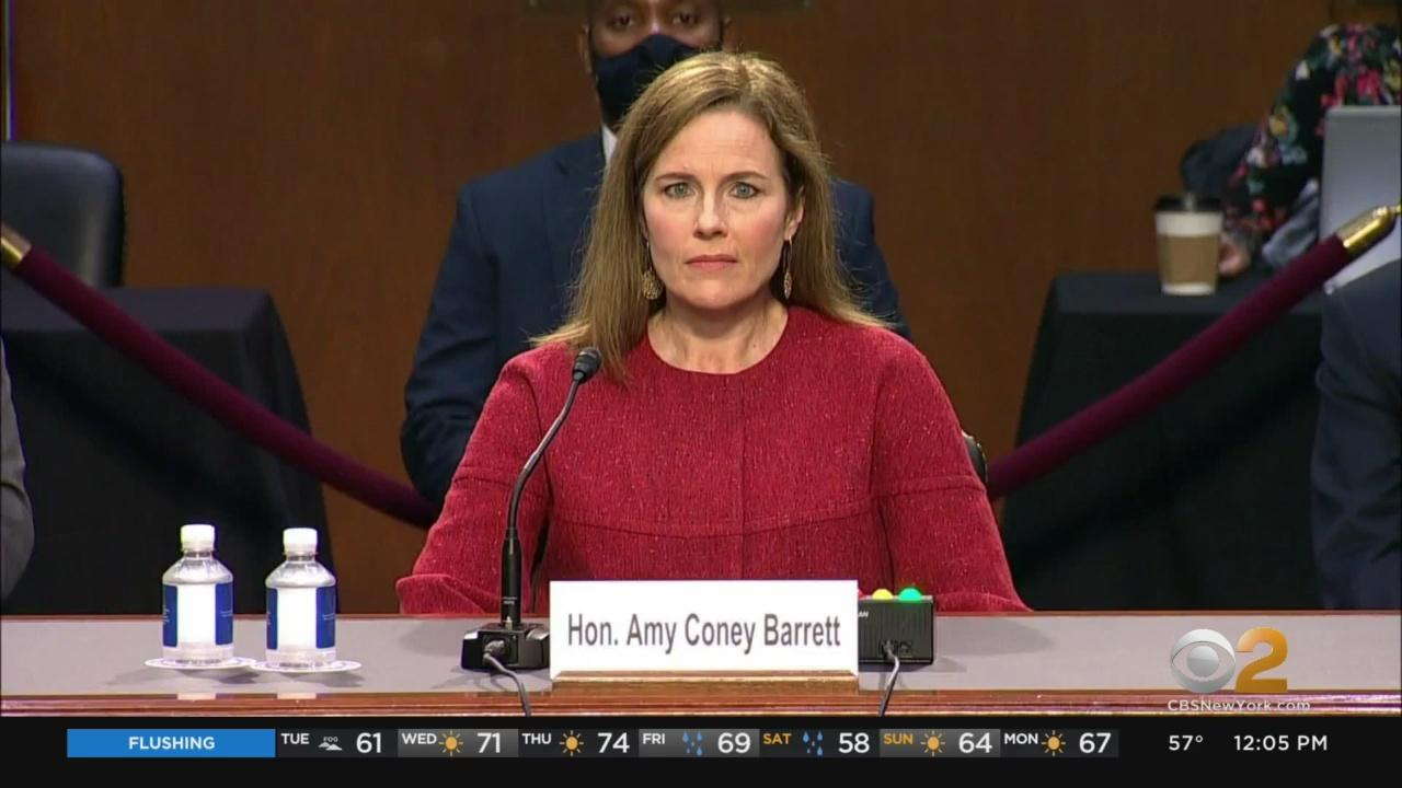 Amy Coney Barrett Answers Questions At Supreme Court Nomination Hearings