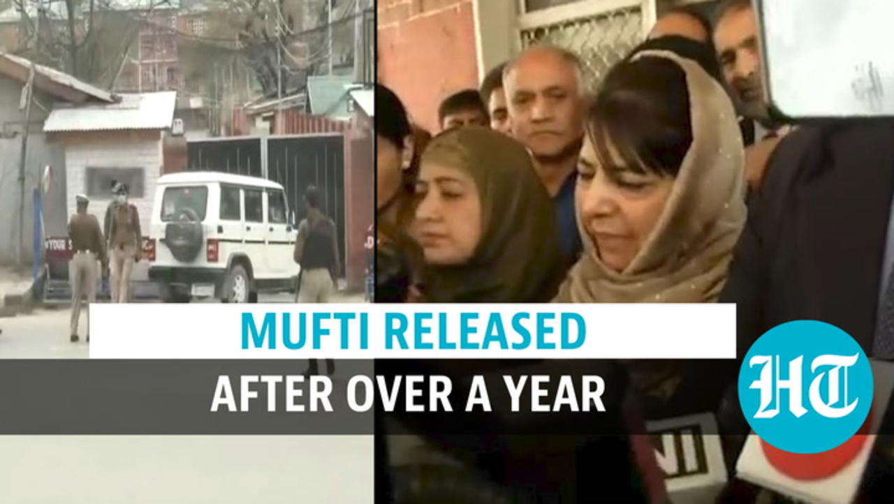 Watch: Ex-J&K CM Mehbooba Mufti released after over a year in detention