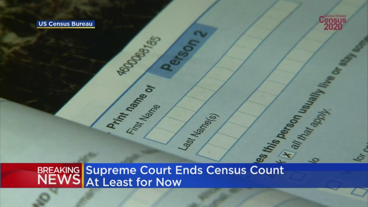 Supreme Court Ends Census Count At Least For Now