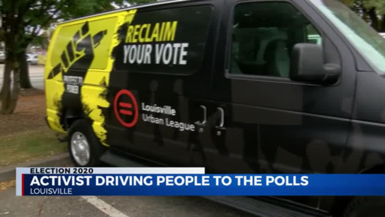 activist driving people to the polls