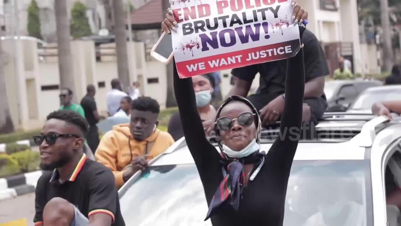 Thousands march through Abuja against police brutality in Nigeria