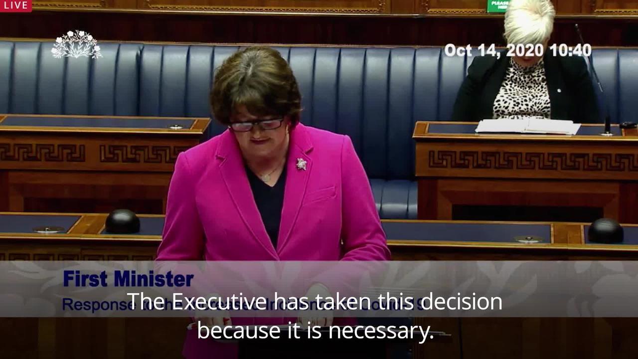 Stormont confirms 'vitally important' new coronavirus restrictions