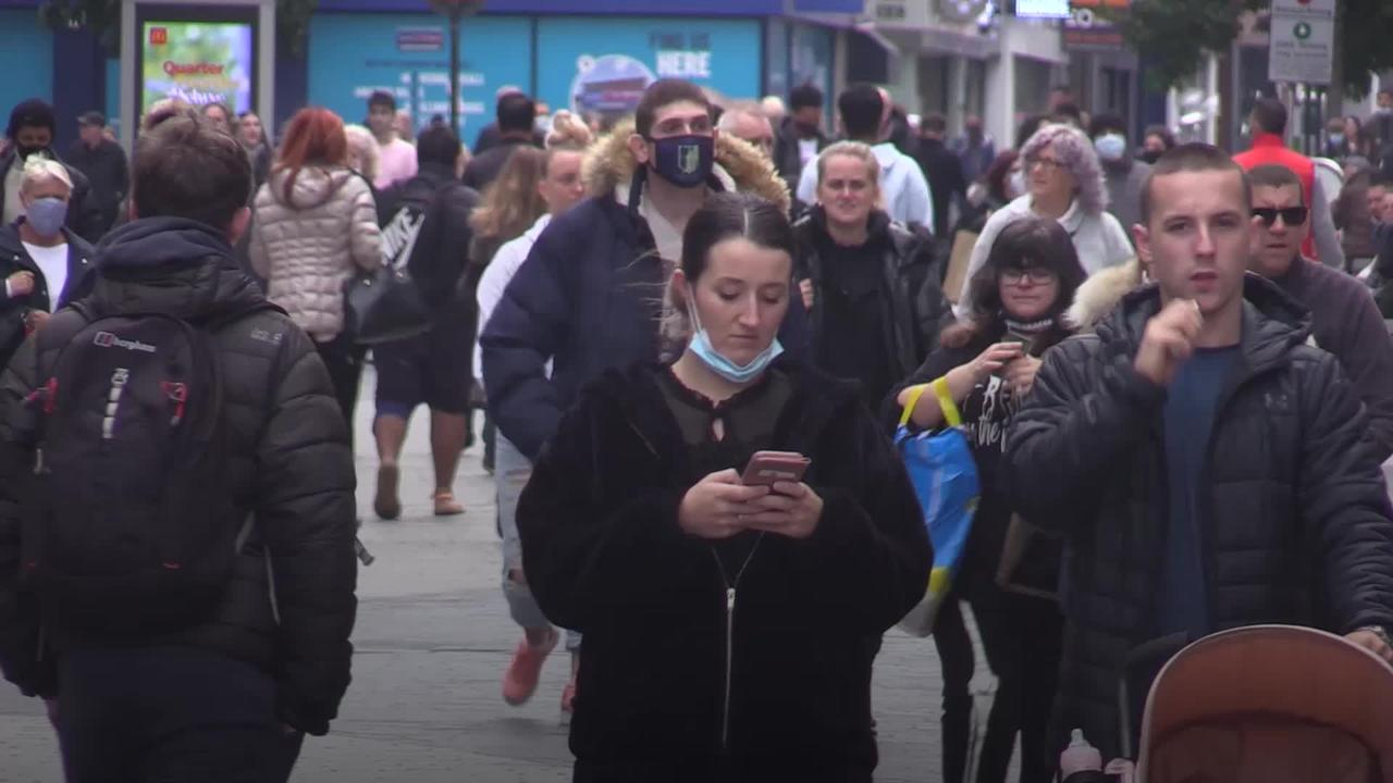 Liverpool city centre appears busy as new restrictions come in