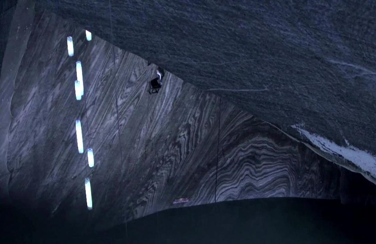 Diving into an ancient salt mine
