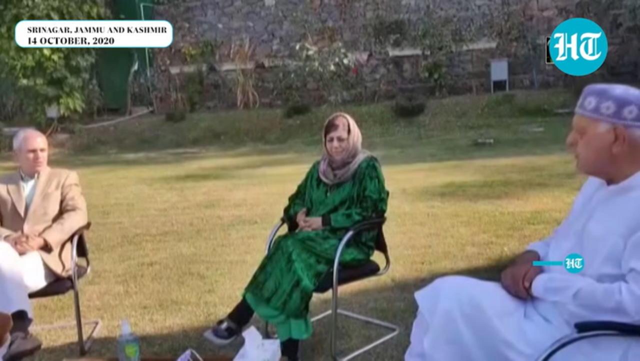 Watch: Farooq Abdullah, Omar Abdullah meets Mehbooba Mufti post her release
